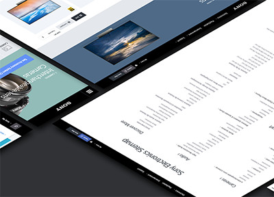 Sony Web UX projects